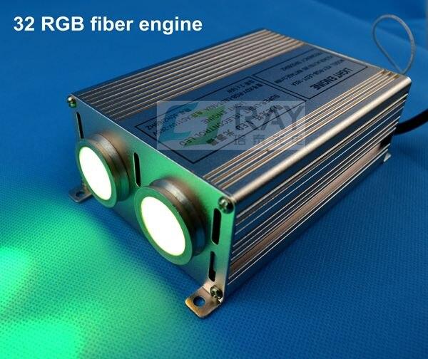 Raylead бренд, оптовая продажа, 32 Вт, 85-265 В вход, с дистанционным управлением, RGB Изменение волокна привело двигателя ...