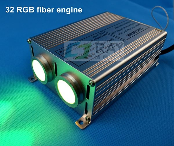 Raylead brand,wholesale,32w,85-265V input,with remote control,rgb changing fiber led engine ...