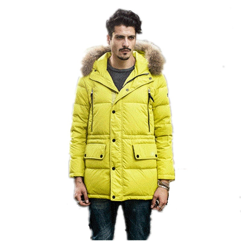 Подробнее о 2016 new style Male fashion Faux fur hooded down coat outwear winter men casual brief warm thicken down jacket parkas overcoat 2016 winter new male camo faux fur collar hooded outwear parkas men big size windproof warm thicken long down jacket overcoat