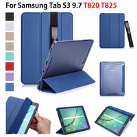 Super Slim PU Cover For Samsung Galaxy Tab S3 9 7 T820 T825 Cases Case Protege