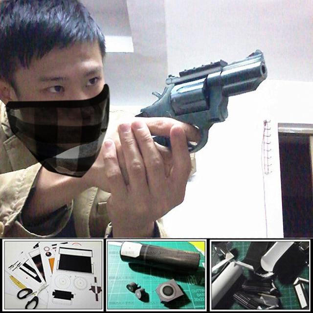 2016 hot toys magazine ver. 3d paper model gun US M66 Revolver 1:1 scale Pistol  handmade puzzles creative gift papercraft