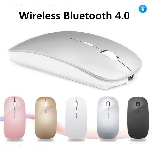 fabf2b54ae8 Bluetooth Mouse for Macbook Air Pro,for Win10/Mac Laptop Computer Wireless  Mouse Rechargeable Mute Silent Optical Gaming Mouse