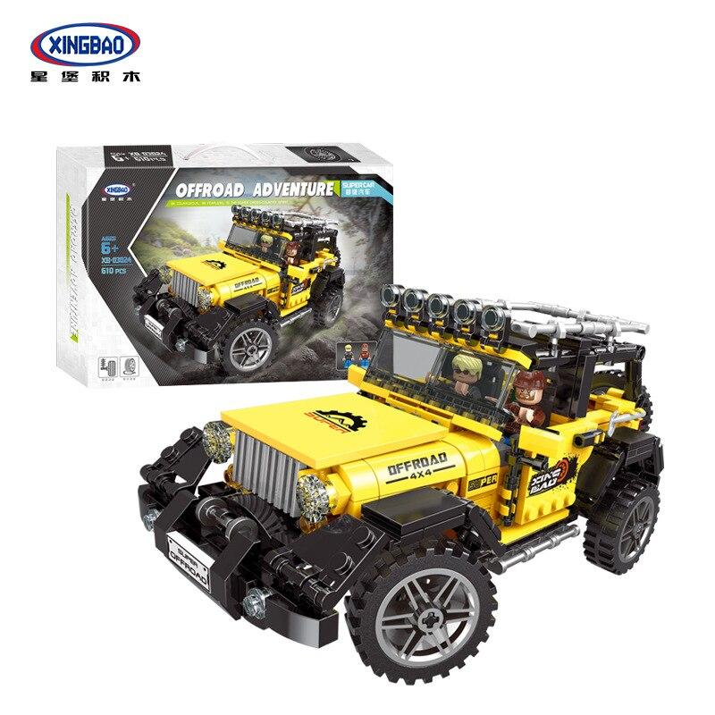 Xingbao Vehicle Building Kit Truck Mechanical Blocks Technic Car SUV Jeep Brick STEM  Christmas