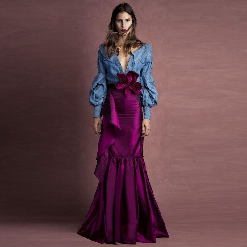 Satin Skirt Long 120