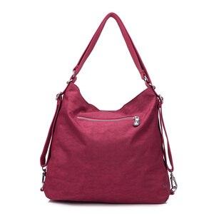 Image 3 - Preppy Style femmes Nylon sac à dos naturel sacs décole pour adolescent décontracté femme sacs à bandoulière Mochila voyage Bookbag sac à dos