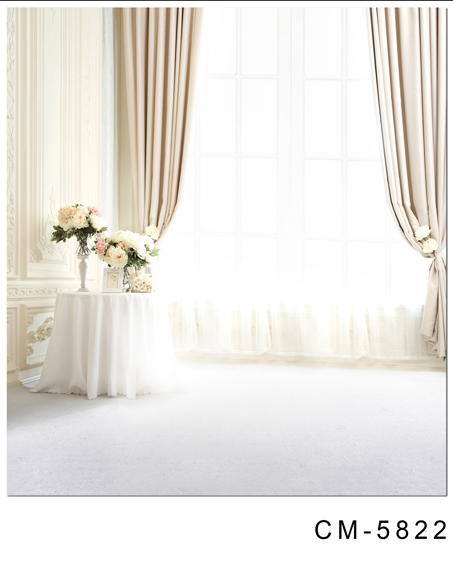 White Curtain Bright Windows Vinyl Backdrops for Photography 10x10ft Digital Photography Background for Wedding Photo Booth Prop