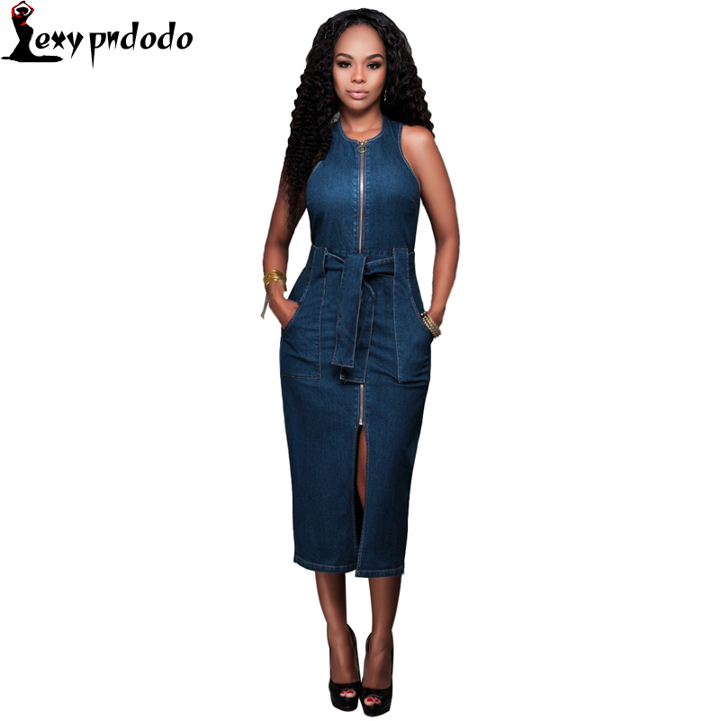 New Fashion Denim Dress Women Sexy Loose Midi Dresses Herfst Jurk Casual Elegant Bodycon Dresses Vestidos mujer online shopping