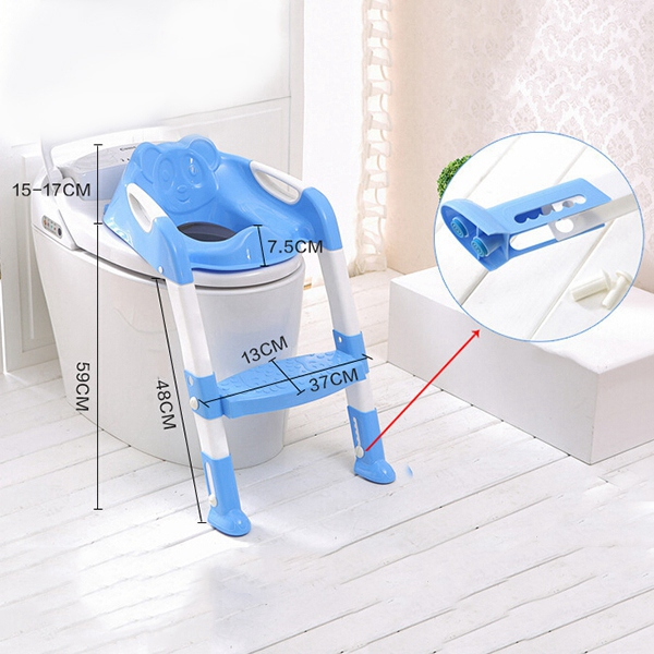 New Baby Foldable Potty Kids Training Toilet Seat Anti-skid Toilet Seat Portable Travel Potty Training Safety Ladder Potty Chair