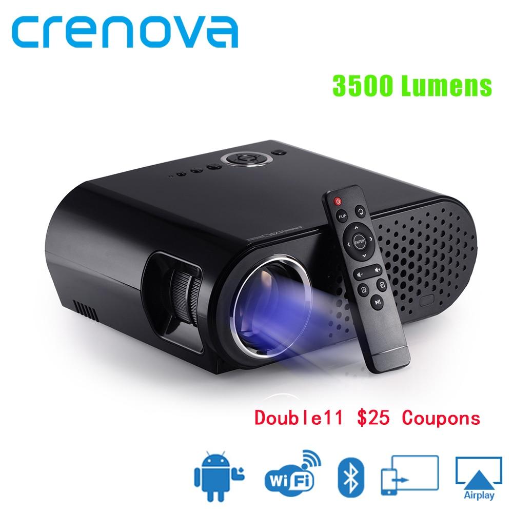 CRENOVA Video Proiettore Per Full HD 1920*1080 p Home Theater Proiettore di Film Con la Versione di Android Wifi Bluetooth Proyector beamer