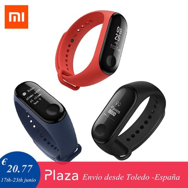 38b4d4f05 [ Soporte Español ] Mi Band 3 Xiaomi original, pulsera inteligente Android MiBand  3 pulseras