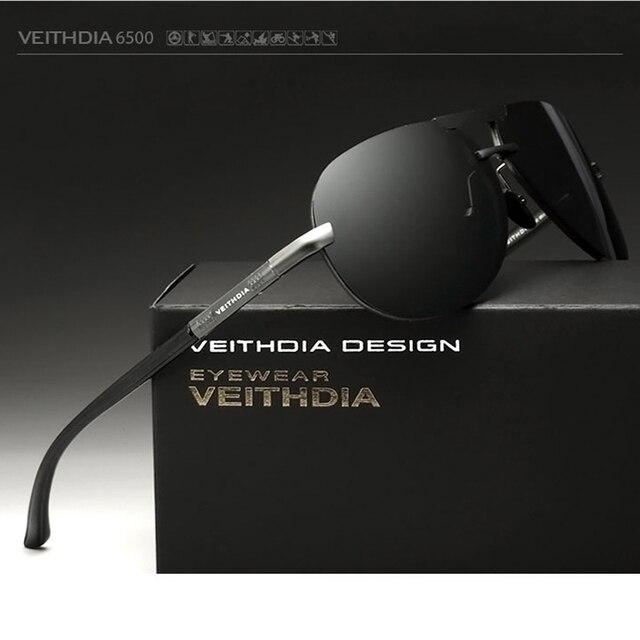2018 VEITHDIA Aluminum Magnesium Men Sunglasses Polarized Classic Sun Glasses Male Eyewears Accessories gafas Oculos de sol 6500 2