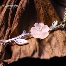 XlentAg 925 Sterling Silver Pink Crystal Flower Bracelets For Women Girl Handmade Original Fine Jewellery Gift Pulseira GB0001