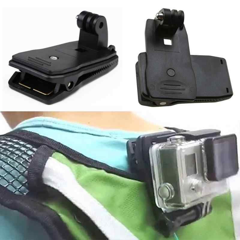 Высокое качество 360 Поворот клип крепление 360 градусов Поворотный Зажим рюкзак Камера s для Go Pro Hero 4/3 +/3/2/1 Камера Аксессуары #20