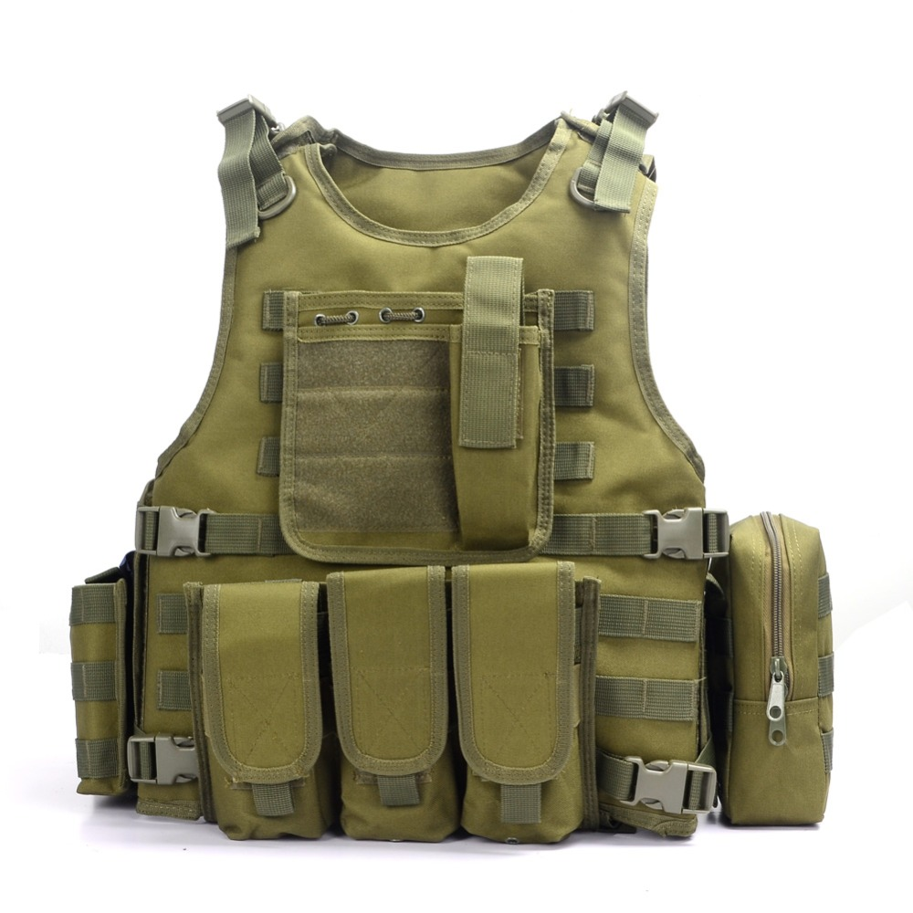 Casque hornfactures militaire tactique gilet Camouflage Body Armor tenue de sport chasse gilet armée Molle Police gilet noir - 5
