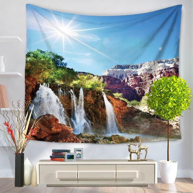 Hot Indian Mandala Tapestry Wall Hanging Natural Scenery Printed Home Decor Beach Throw Towel Yoga