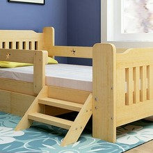 Детская кровать детская мебель сосна детские кровати детская кроватка ШАМБРЕ bebe Европейский стиль Горячая новая сборка кровати мульти размер