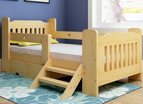 Los niños camas muebles madera maciza de pino niños camas cama niño ...