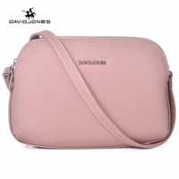 DAVIDJONES Women PU Crossbody Multi Pocket Femal Purse Bag