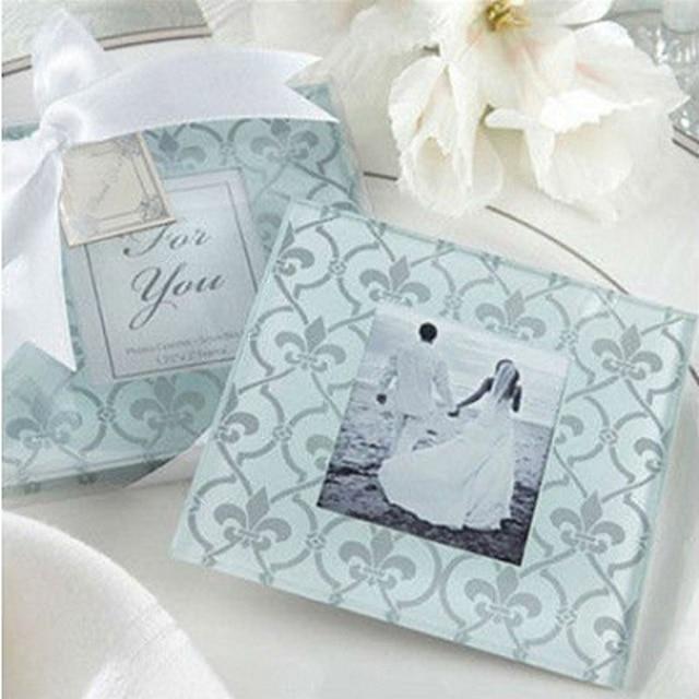50sets=100pcs/lot Classic Glass Coasters/Photo Frame, Wedding Favors ...