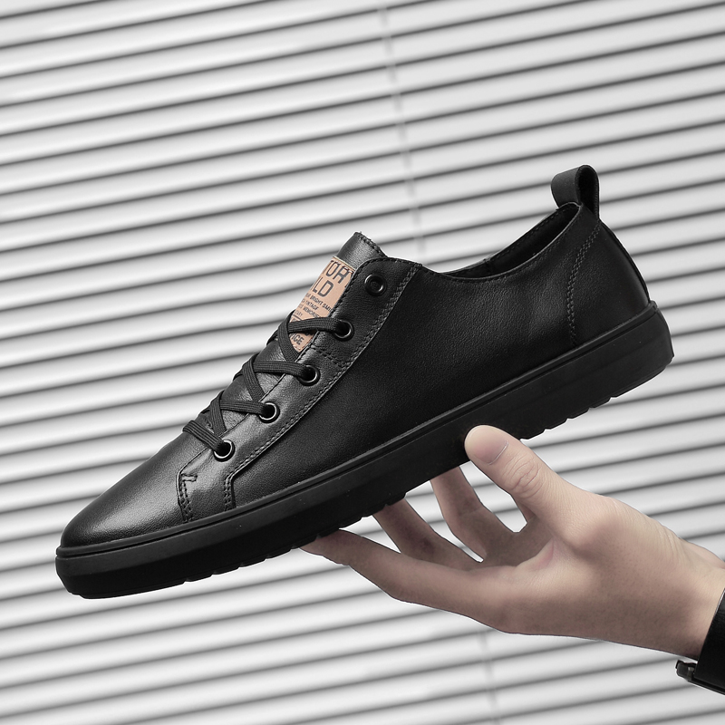 Drop shipping Casual Men Shoes genuine leather Handmade Lace up Sneakers Soft Breathable Outdoor Shoes Men Moccasins shoes k3