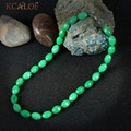 Vintage Necklaces Green Stone Jewelry Irregular Beaded Natural Stone Fashion Accessories Chocker Necklace Collares Mujer