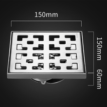 304 Stainless Steel Bathroom Shower Floor Shower Large Floor Drains Shower Drain Cover Deodorant Floor Drain Strainer Hotel 15