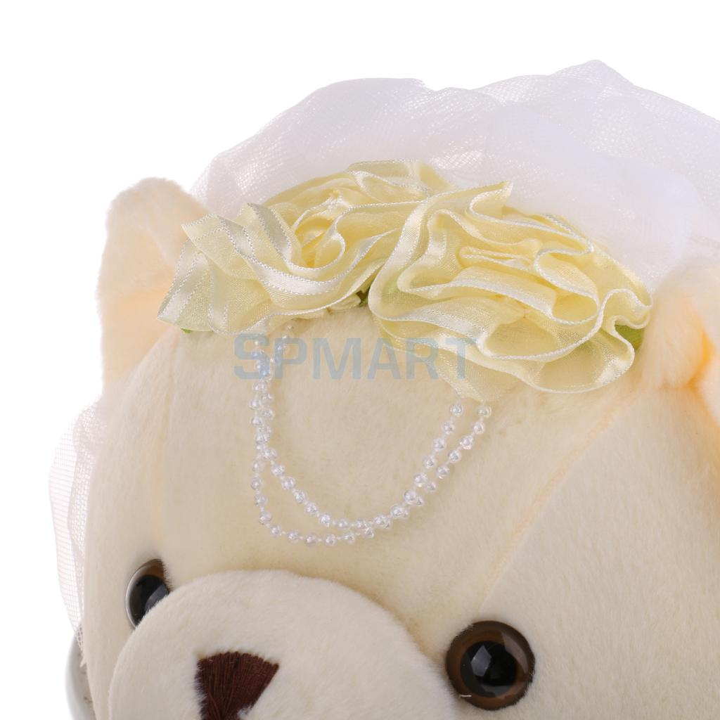 Plush Cute Stuffed Baby Kids Toys Couple Bear With Flower For Girls