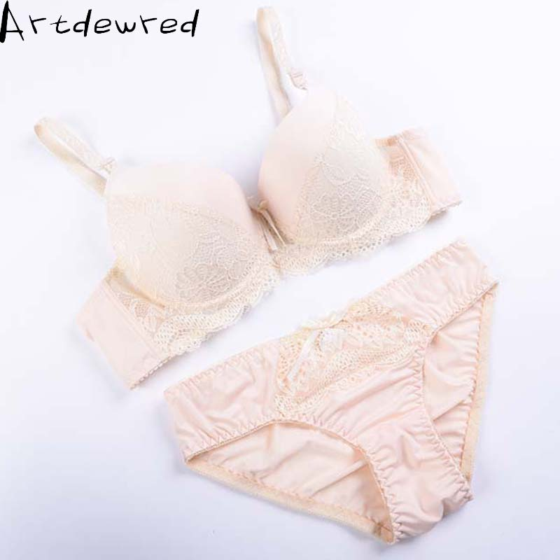 Artdewred Suit Bra-Set Lingerie Lace ABC Women Underwear Push-Up Sexy Refreshing-Bra