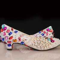 4 Heel Bride Wedding Shoes Bridal Dress Shoes Silver Woman Pumps Gorgeous Shoes From Mom Nightclub