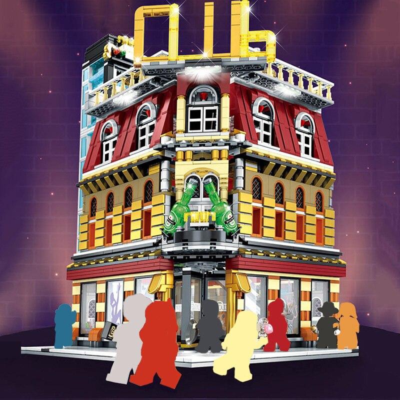 2488 pièces créateur Expert LED boîte de nuit ville rue vue blocs de construction Architecture briques cadeaux bricolage jouets pour enfants-in Blocs from Jeux et loisirs    1