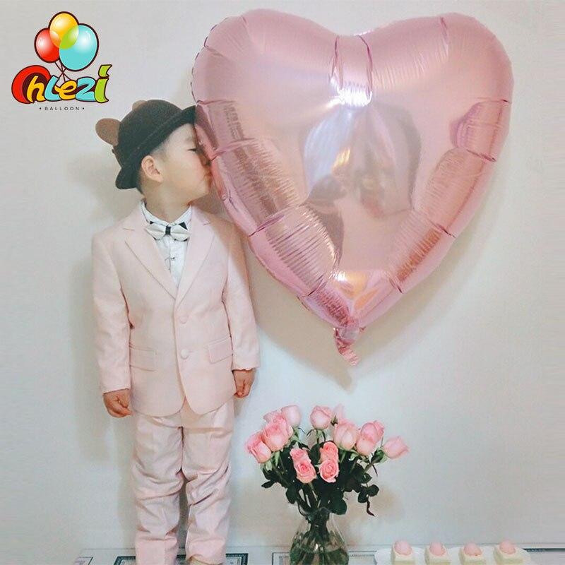 32 дюйма 75 см «любящее сердце» Форма алюминиевой фольги Воздушные шары на день рождения вечерние украшения воздушный шар с гелием свадебное украшение чистое Globos-2