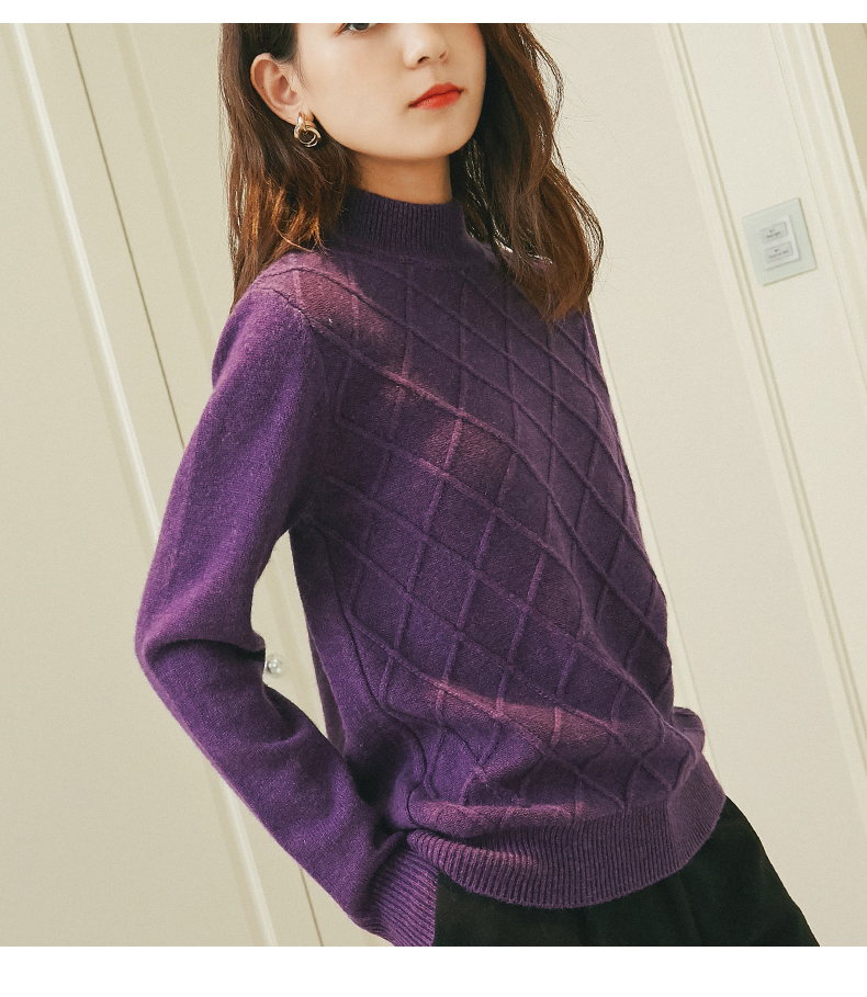 Woman font b Sweaters b font Knitting Pullovers Winter Warm Turtleneck Fashion Jumpers Pure Cashmere Standard