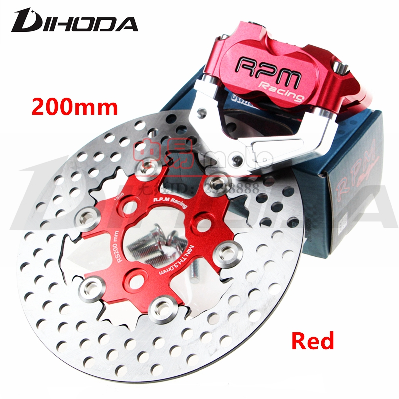 RPM CNC Electric Motorcycle Scooter Brake Calipers 200mm 220mm Disc Brake Pump Adapter Bracket For Yamaha Aerox BWS RSZ adelin adl 21 motorcycle modification electric motorcycle double piston brake calipers for wisp rsz yamaha small crab calipers