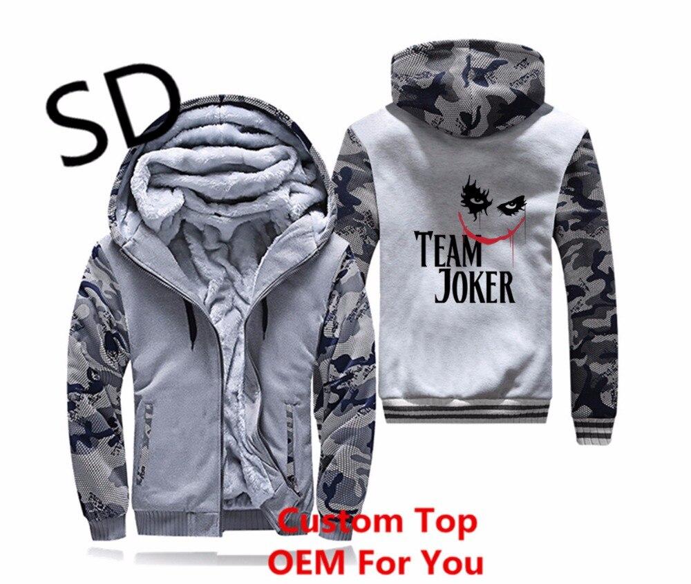 Dropshipping 3D Hoodies Men Suicide Joker Squad Men Hoodies Sweatshirt streetwear heavy metal hooded mantle Zipper Coat 4XL Tops