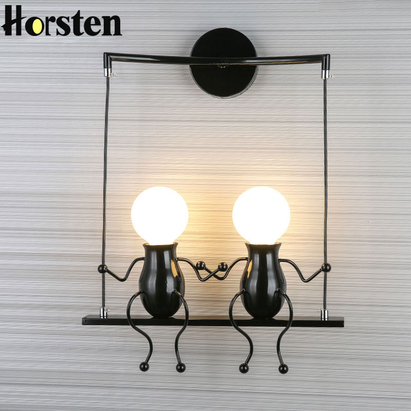 Modern Creative LED Wall Light E27 Black White Red Wall Lamp Sconce Home Fixtures For Childrens Room Living Room BedroomModern Creative LED Wall Light E27 Black White Red Wall Lamp Sconce Home Fixtures For Childrens Room Living Room Bedroom