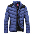 2016 Winter Jacket Men Padded Coats and Jackets Patchwork Men Stripe High Quality Warm Thick Jacket Outerwear Plus Size 5XL