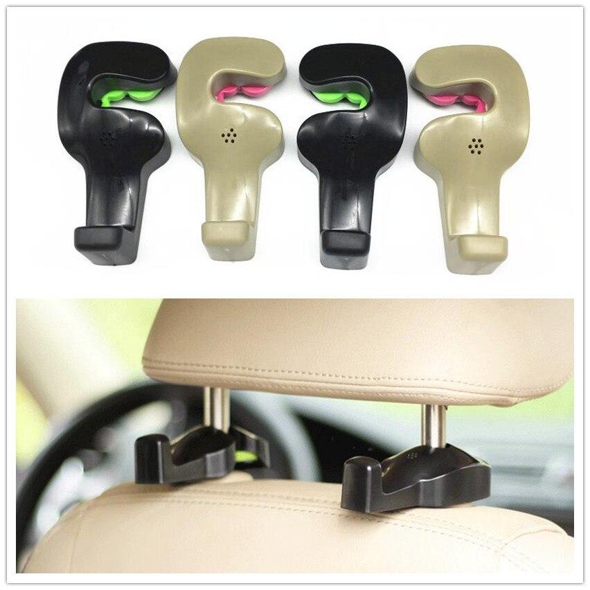 2pcs Car Shopping Bag Holder Seat Hook Hanger For Audi A2 A3 A4 A5 A6 A7 A8 Q3 Q5 Q7 S3 S4 S5 S6 S7 S8 TT TTS RS3 RS4 RS5 RS6