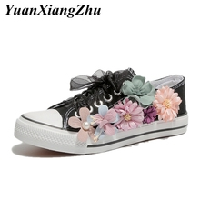2019 fashion flower canvas shoes women sneakers female summer casual shoes girl trainers lace up basket femme vulcanize shoes mostnica beach sexy white sheer guipure lace tops without bra plain blouse women summer batwing sleeves round neck blouses