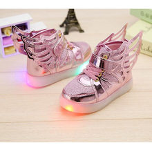 2018 Chaussure Lumineuse Enfant Mooie Led Schoenen Kids Light Up Meisje Sneakers Leuke Chaussure Fille Cool Kind Trainer(China)