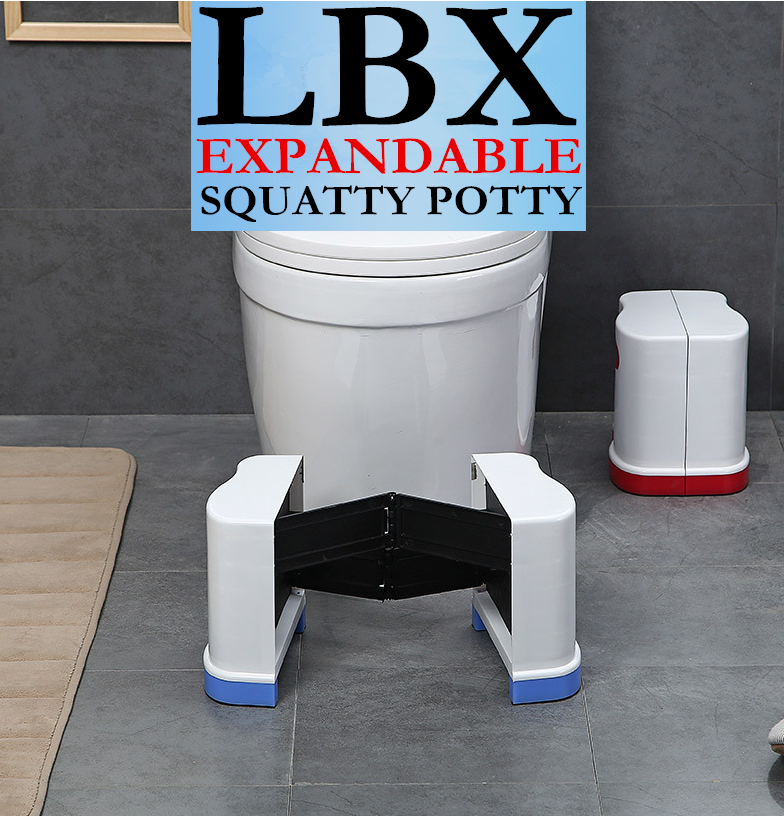 LBX Exclusive Adjustable Expandable Squatty Potty High Quality Foldable Plastic Toilet Stool Pad Footstool 44*23*20cm