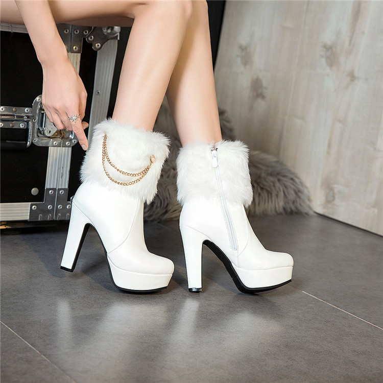 Heels Ankle Boots Women Shoes