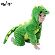 Dinosaur Kigurumi Baby Animal Onesie Pajama Flannel Soft Cartoon Onepiece Cute Funny Sleepwear Kid Child Green Festival Jumpsuit