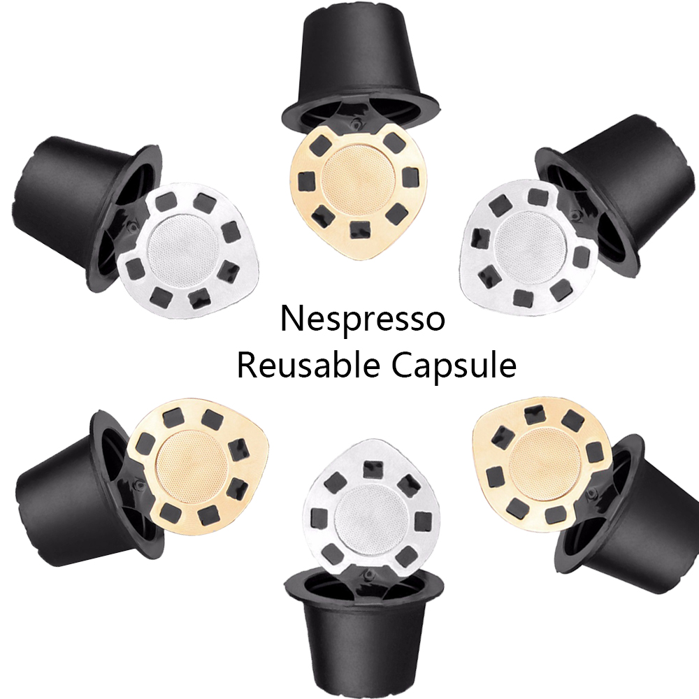 Refillable Reusable Coffee Fliter Mug Capsule For Nespresso Filter Compatible with Nespresso Machine Coffee For Nespresso