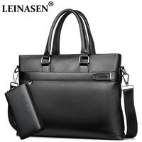 Classic Business PU Leather Man Briefcase Brand Computer Laptop Shoulder Bag Men S Handbag Messenger Bags