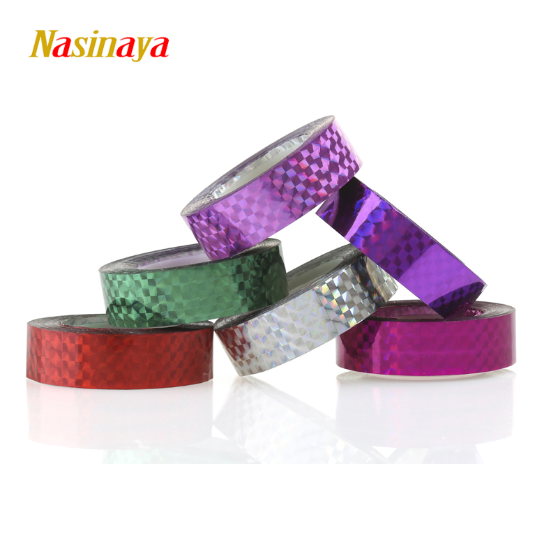5pcs/pack Rhythmic Gymnastics Decoration Holographic Tapes RG Prismatic Glitter Tapes Gimnasia Ritmica Artistic Hoops Stick