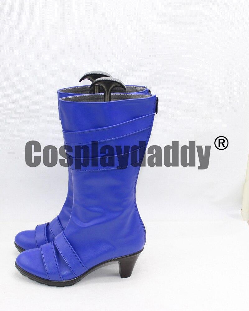 Sailor Moon Tenoh Haruka/Sailor Uranus Cosplay Shoes Blue Boots X002