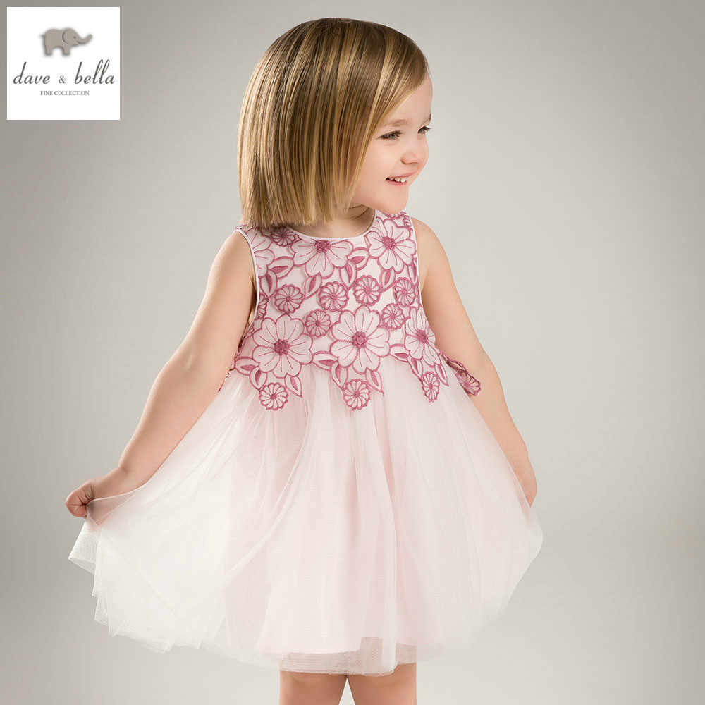 Db5055 dave bella summer baby girls princess dress floral for Wedding dresses for baby girls