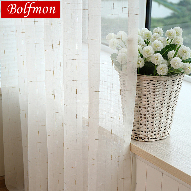 Latest Elegant Europe White Linen Curtain Fabrics Tulle Sheer Window Curtains For Living Room Panels Window Treatment Rideaux