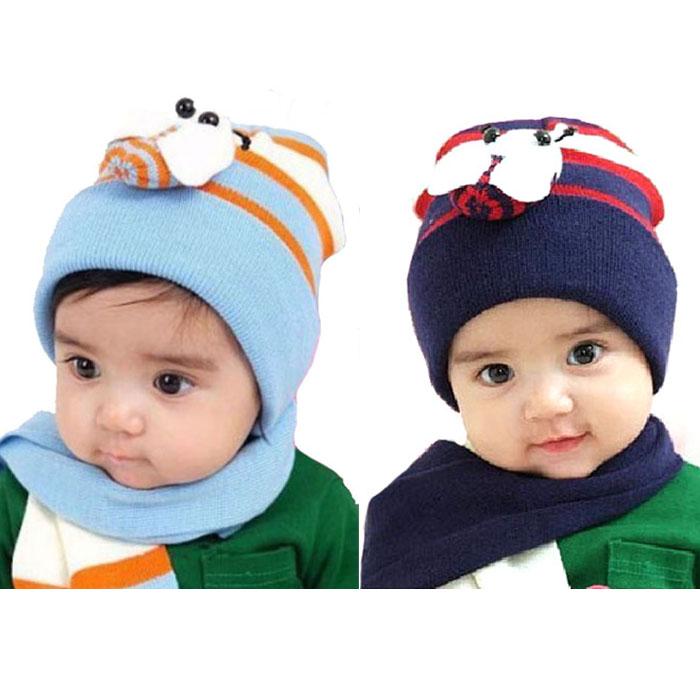 Hot Sales Winter Caps Baby  Popular Sets Winter Baby Hat Boy Girl Kids Warm Hat Cap + Scarf Baby Hat Beanie Hot Sales skullies hot sale candy sets color pointed hat knitting hat sets hat cap 1866951