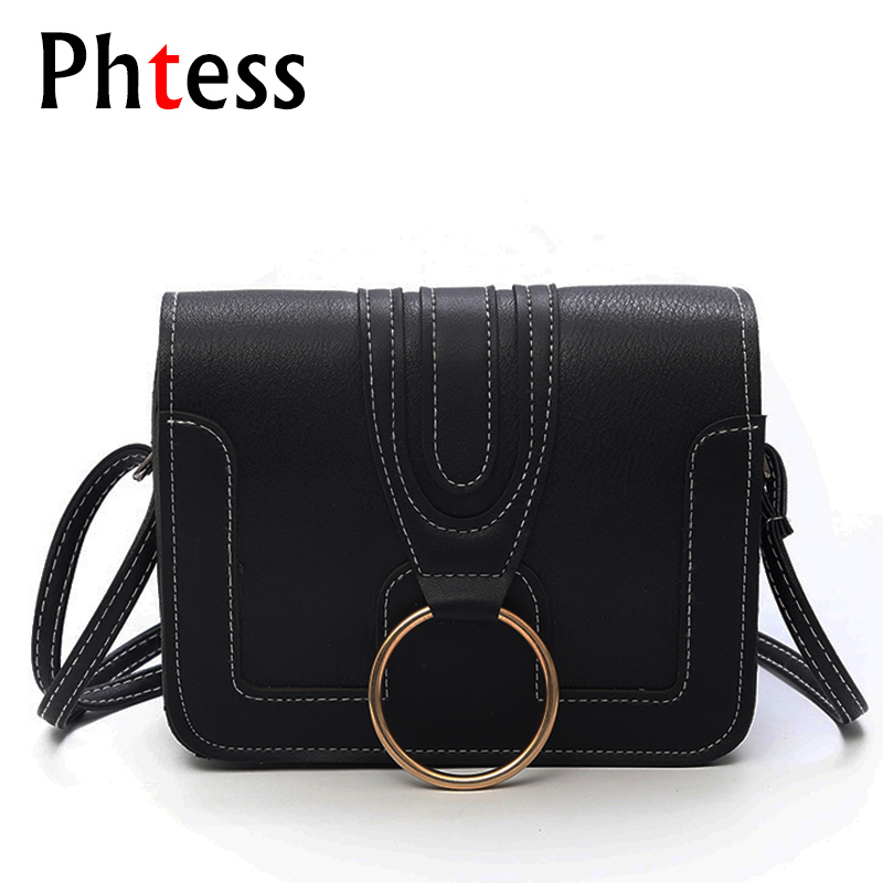 2018 Small Vintage Female Leather Shoulder Bags Flap Crossbody Bags For Women Pu Messenger Bags For Girls Sac a Main Ladies Bag fashion pu leather small women messenger bags for girls flap candy color shoulder long chain crossbody bag for women ladies sac